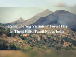 Remembering Victims of Forest Fire in Theni Hills, Tamil Nadu, India
