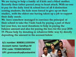 Help This Single Blind Mother Send Her 4 kids To School.