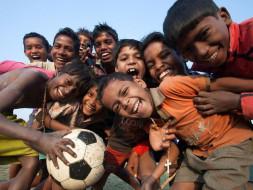Slum Kids Play Their First International Friendly Match in Spain