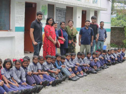 """NAVV SHIKSHA""Providing shoes,bag,story book,sweater etc to students"