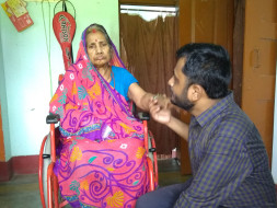 Grandmother Suffering From Breast Cancer