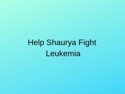 Help 3-year-old Fight Luekemia