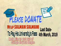 Help Salman Salmani To Pay University's Fees