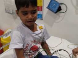 5years old boy Admitted in Apollo hospital in hyd due to Lung Disorder