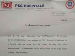 Help Vaishnavi With Liver Transplant