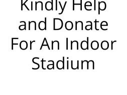 Help To Build Indoor Badminton Stadium In Parangipettai