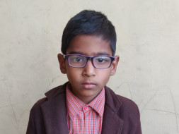 Help a visually challenged  single  mother pay school fees of her son