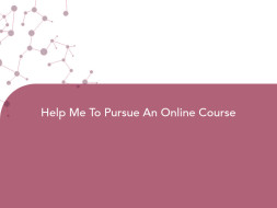 Help Me To Pursue An Online Course