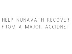 Help Nunavath Recover From A Major Accidnet