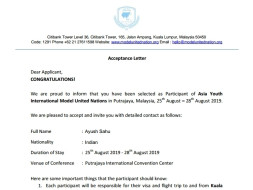 Fund to attend AYIMUN