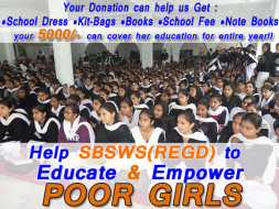 Help Us Educate Poor Girls!!