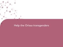 Help the Orissa transgenders