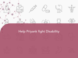 Help Priyank fight Disability