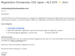 Help Bratin to attend the OSS at Japan