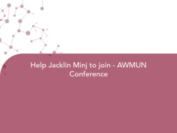 Help Jacklin Minj to join - AWMUN Conference
