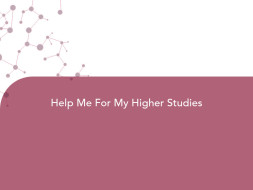Help Me For My Higher Studies
