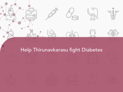 Help Thirunavkarasu fight Diabetes