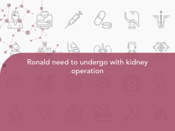 Ronald need to undergo with kidney operation