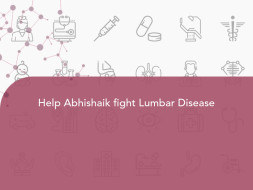 Help Abhishaik fight Lumbar Disease