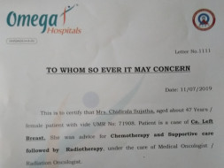 Help Sujatha Fight Cancer