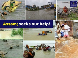 Give It To Assam Flood Victims.