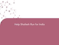 Help Shailesh Run for India