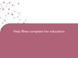 Help Rhea complete her education