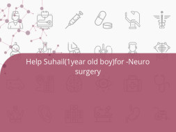 Help Suhail(1year old boy)for -Neuro surgery