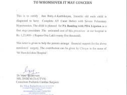 Help 2 month Karthikeyan