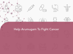 Help Arumugam To Fight Cancer