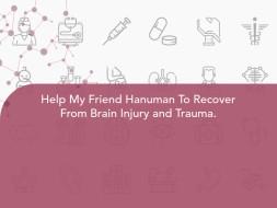 Help My Friend Hanuman To Recover From Brain Injury and Trauma.