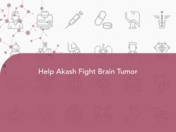 Help Akash Fight Brain Tumor