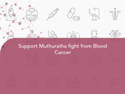 Support Muthuratha fight from Blood Cancer