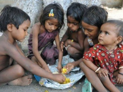 Donate a food to underprivileged poor and homeless child