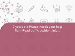 7 years old pratap needs your help fight Road traffic accident injuries