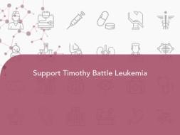 Support Timothy Battle Leukemia