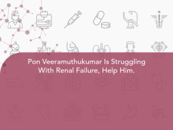 Pon Veeramuthukumar Is Struggling With Renal Failure, Help Him.