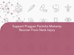Support Pragyan Parimita Mohanty Recover From Neck Injury