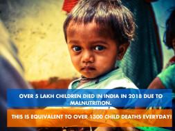 Help India fight malnutrition.