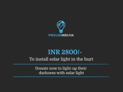 Donate Now To Light-up Their Darkness With Solar Light