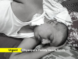 Please help Dhyanpal's children and old parents to survive.