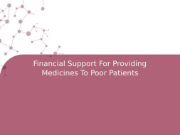 Financial Support For Providing Medicines To Poor Patients