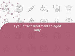 Eye Catract Treatment to aged lady