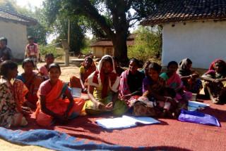 Tribal families in Shahitoli Village in Gumla