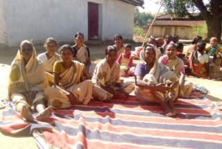 Tribal families in Pasanga Village in Gumla