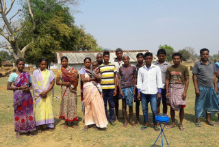 Tribal families in Kumaria and Dhangao Village in Gumla