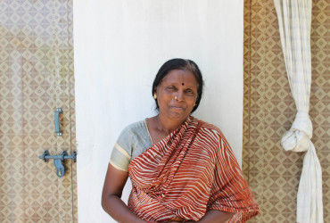 Jayakodi is a migrant to Tamil Nadu, now with a new toilet at home