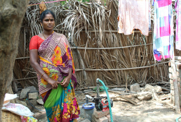 Dhanam used the loan to build a bore well at her home