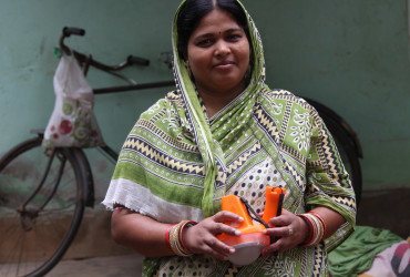 Sasmita's walk over the grasslands have been easier with solar lights