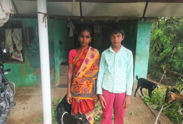 Bhuvaneshwari has expanded her goat enterprise with the agriculture loan
